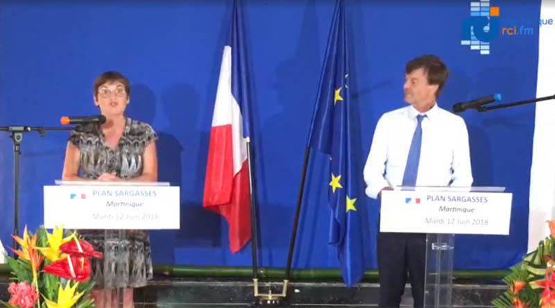 Plan Sargasse : visite des ministres Nicolas Hulot et Annick Girardin aux Antilles